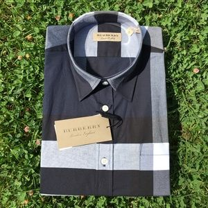 new BURBERRY LONDON SHIRT REGULAR FIT %100 COTTON